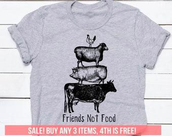 5d3aa9d8527d3e Vegan Shirt Tshirt T-shirt Tee Friends Not Food Vegetarian Vegan Top  Toddler Baby Gifts Girlfriend Boyfriend Wife Veganism Men Women Kids