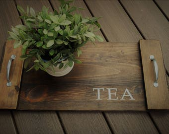 Decorative Tray. Serving. Wooden.