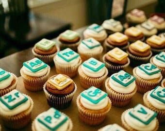 Periodic Table Cupcake Toppers
