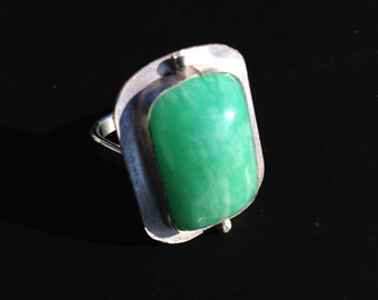 Amazonite and sterling ring