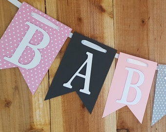 Baby Shower Banner, Baby Girl Banner, Baby Shower Decorations
