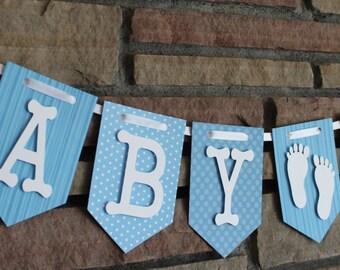 Banner, Baby Shower Banner, Baby Boy Banner, Baby Shower Decorations