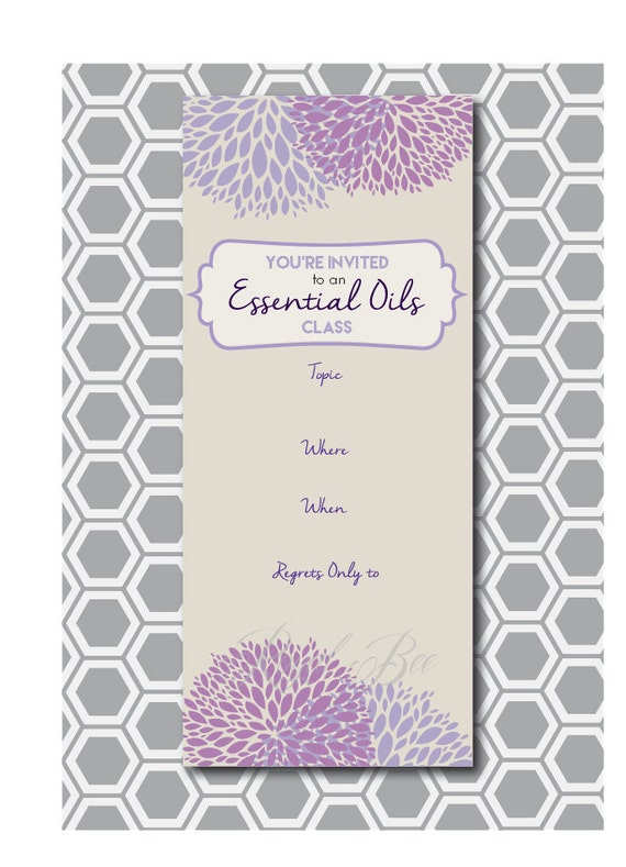 Items similar to Essential Oil Class, Printable Invitation ...
