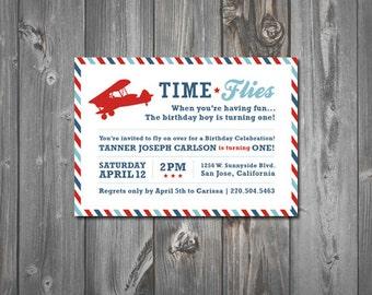 Time Flies Printable Birthday Party Invitation