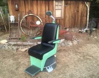 Early 1960's Vintage American Optical Company Procedure /Tattoo Shop Chair- Mint Green!