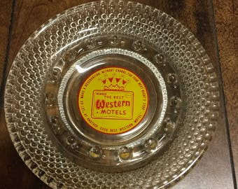 """Vintage Original 1960's """" Best Western Motels """" Glass Collectable Ashtray in Mint Condition."""