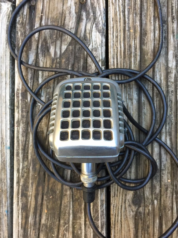 Vintage 1950's Shure Model 747 Waffle Iron Microphone. on