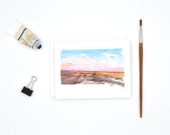 Watercolor Notecards - South Dakota Greeting Cards - South Dakota State Art - South Dakota Gift - South Dakota Wedding - Stocking Stuffer
