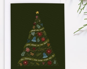 Long Distance Christmas Card - Missing You Holiday Card - Miss You Holiday - Miss You Christmas - Across the Miles Card