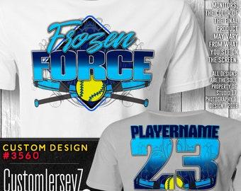 f61095b800a Frozen Force Team Design / Custom Softball Jersey