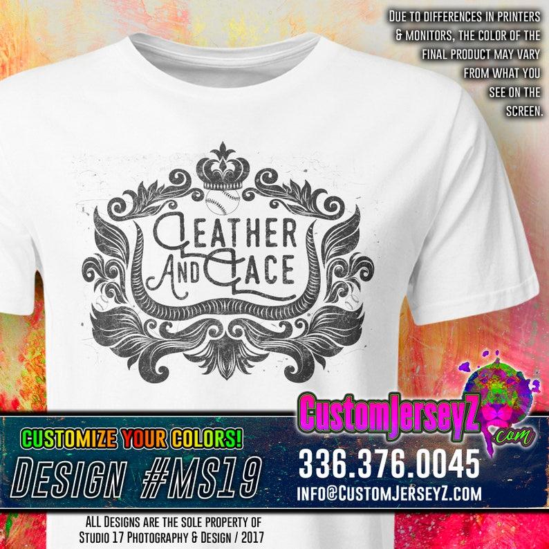 3af4688f Leather & Lace Shirt. Dye-Sub DRI-FIT. Men's | Etsy