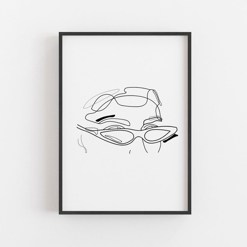photograph relating to Printable Sunglasses identified as Girl A single Line Artwork Print, Sungles Line Print, Printable Artwork, Summary Line Print, Lady Encounter Line Artwork, Lady Minimalist Printable