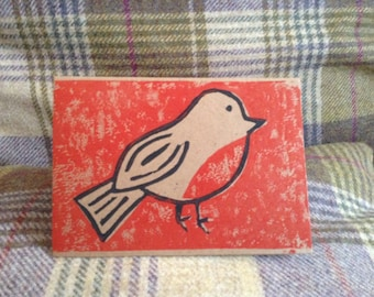Handmade Robins Christmas Cards. White or brown card. Pack of 5