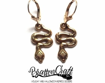 Gold snake jewelry Etsy