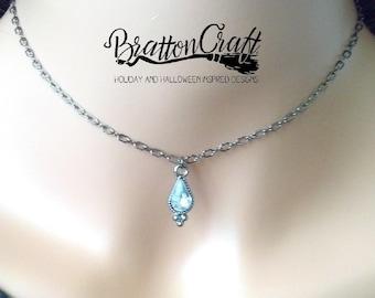 Gothic Clear Tear Drop Choker - Halloween Jewelry - Gothic Choker - Goth Necklace - Goth Jewelry