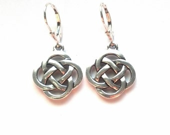 39f347cc6 Silver Celtic Knot Earrings - Celtic Earrings - Irish Earrings - Scottish  Earrings - Silver Celtic Jewelry