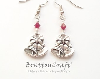 Silver Bells Earrings - Christmas Earrings - Christmas Jewelry - Holiday Earrings - Holiday Jewelry