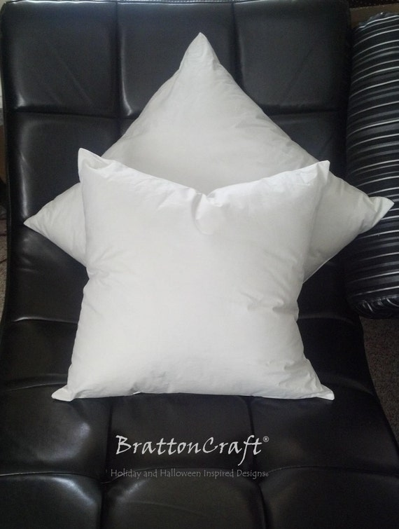 Square Faux Down Pillow Inserts Polyester Faux Down Pillow Etsy Inspiration 16 Inch Square Pillow Insert