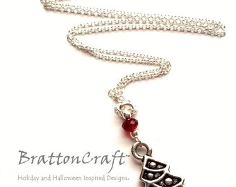 Silver Christmas Tree Necklace - Christmas Tree Jewelry -  Christmas Necklace - Christmas Jewelry - Holiday Jewelry