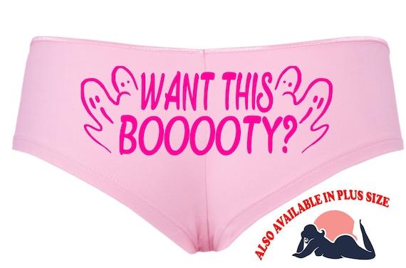 WANT THIS BOOOOTY Halloween booty pink boy short panty Panties boyshort underwear sexy funny halloween flirty sexy costume slutty outift
