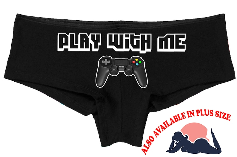 8d739f16be2 PLAY WITH ME nerdy video game panties boy short panty boyshort