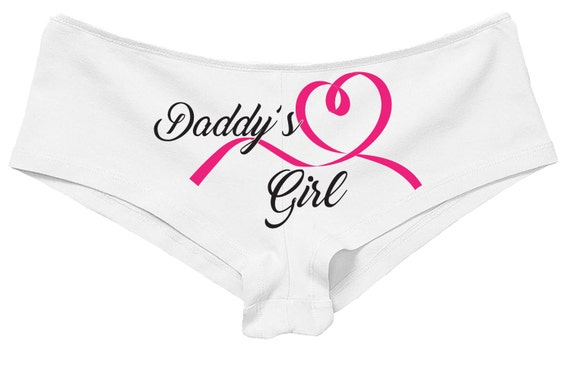 DADDY'S GIRL panties boy short boyshort lots color choices sexy funny flirty bachelorette panty game hen party CGL little daddys girl bdsm