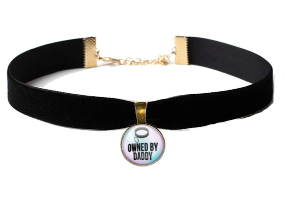 OWNED BY DADDY sexy choker necklace for daddys little princess baby girl slut collar necklace ddlg cglg bdsm flirty fun