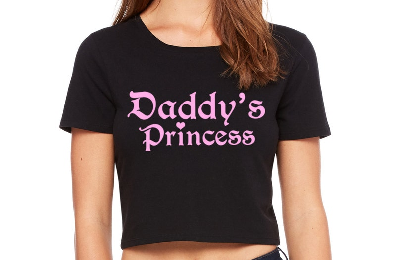 eec2490c4349f DADDY S PRINCESS girl owned slave crop top tee shirt