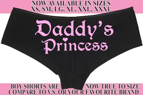 DADDY'S PRINCESS girl owned slave boy short panty Panties boyshort ddlg sexy funny Rear Center rude collar collared neko pet play KITTEN