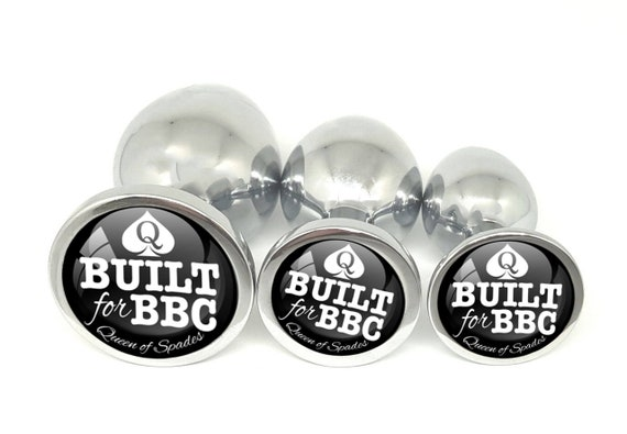 BUILT FOR BBC - for Queen of Spades - Anal Plug Big Black Cock Lovers Slut Butt Plug in 3 sizes - Size Queen - Bull Rider - Hotwife Swinger