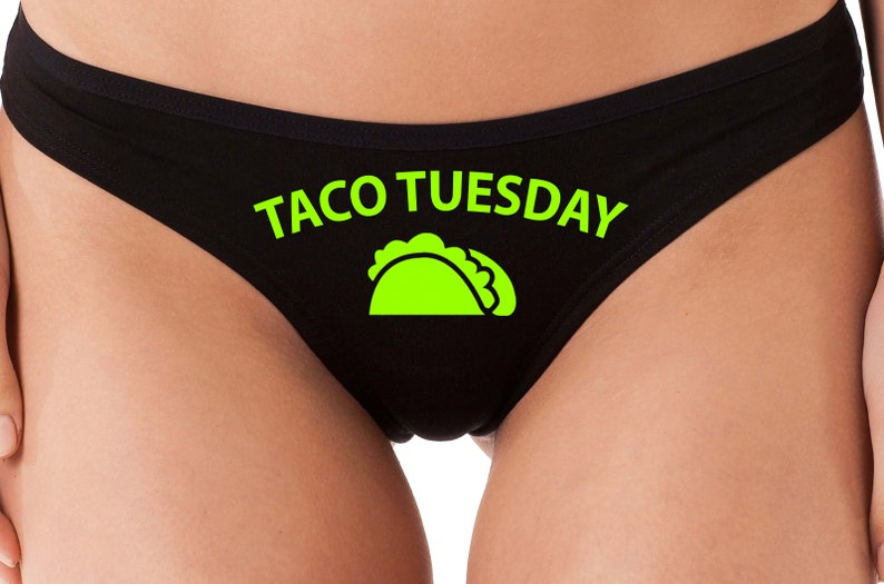 Knaughty Knickers Okay But Then We Get Tacos boy Short Panties Funny Pizza Taco Boyshort Underwear