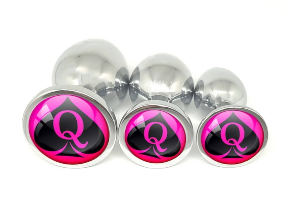 QUEEN Of SPADES Logo Pink Anal Plug for BBC Lovers Buttt Plug in 3 sizes - Bull Rider Owned Shared HotWife Hot Wife Cuckold Hubby Vixen Stag