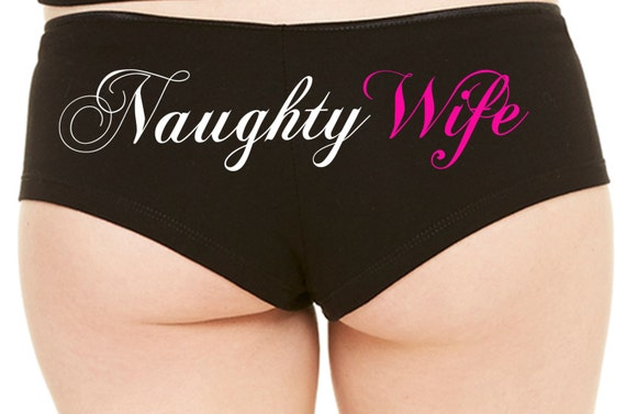 NAUGHTY WIFE honeymoon engagement bridal hen party boy short Panties boyshort deployment over bachelorette party panty game queen of spades