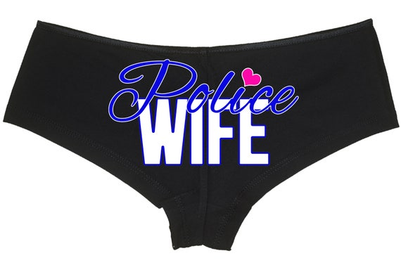 LEO POLICE WIFE Thin Blue Line My Police Officer Underwear panties force cop bachelorette engagement party boyshort Law enforcement love