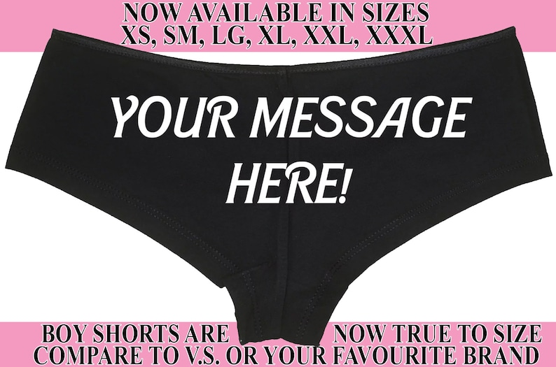 474ebdd54 PERSONALIZED PANTIES Your MESSAGE boy short boyshort sexy