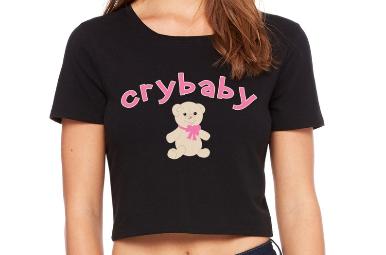 CRYBABY CRY BABY daddys girl princess owned slave crop top tee image 0