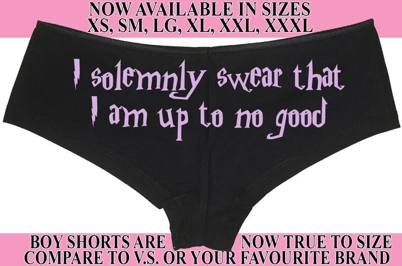 542bfa3006a0 I SOLEMNLY SWEAR boy short panty Panties boyshort color