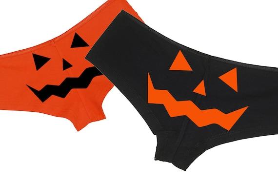 JACK O LANTERN Flirty HALLOWEEN Boy short underwear - sexy fun boyshort panties for under your halloween costume - black, orange, or both!
