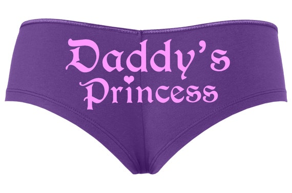 DADDY'S PRINCESS girl owned slave Purple boy short panty panties ddlg sexy funny Rear Center rude collar collared neko pet play KITTEN