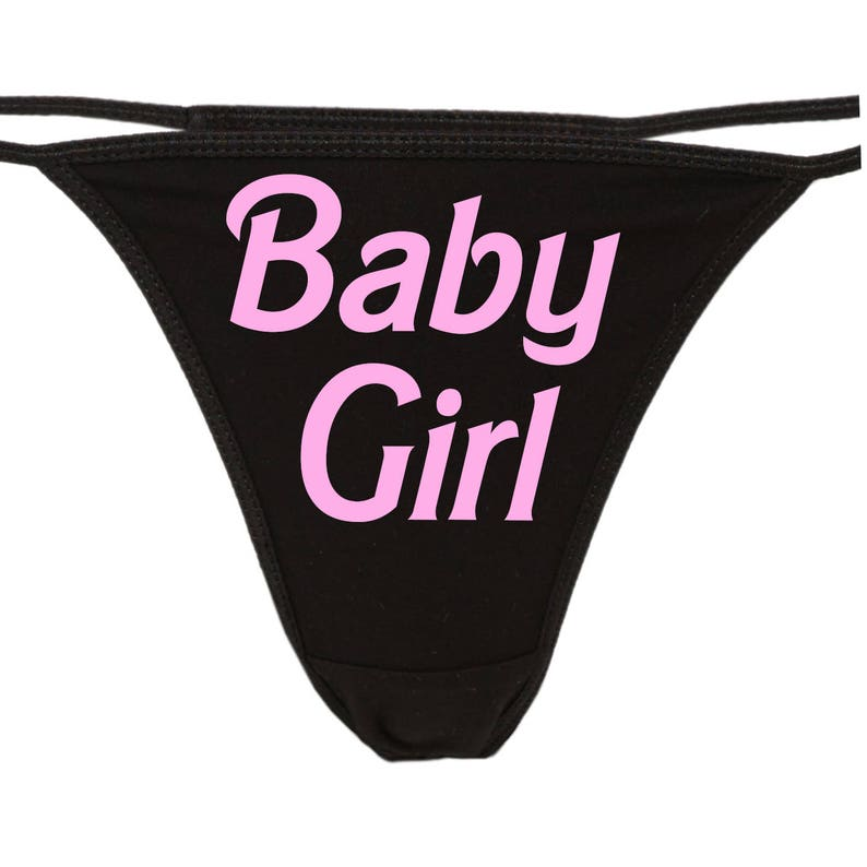 aefc25f0ad03 BABY GIRL flirty thong for Daddy show him your sexy slutty | Etsy