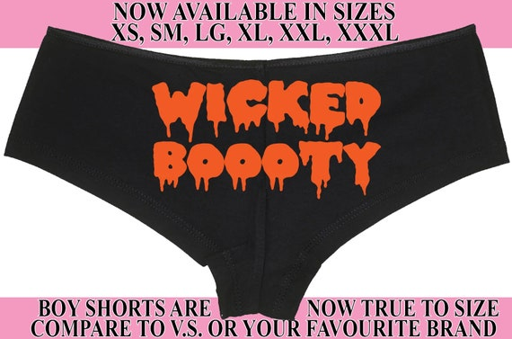 WICKED BOOOTY BOO0 Ty Halloween boy short panty Panties boyshort color choices sexy funny power lift work that booty then show it off ghost