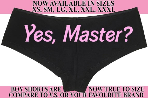 YES MASTER owned master slave boy short panty Panties boyshort color choices sexy funny rude collar collared neko pet play Kitten daddy DDLG