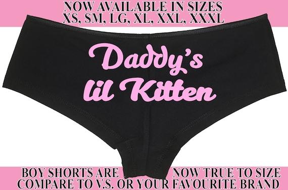 Daddy's Lil KITTEN owned LITTLE slave boy short panty Panties boyshort sexy funny rude slut collared neko pet play DDLG bdsm yes daddy cgl
