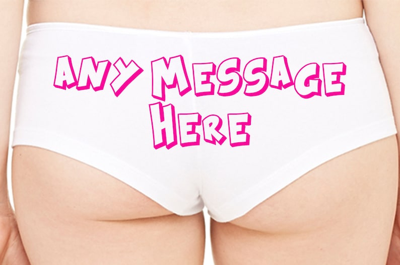 1746ea09e PERSONALIZED PANTIES Your MESSAGE choice of colors   logo