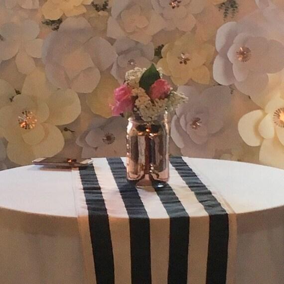Wedding Sale Navy And White Stripe Table Runners Wqeddings Birthdays Baby Shower