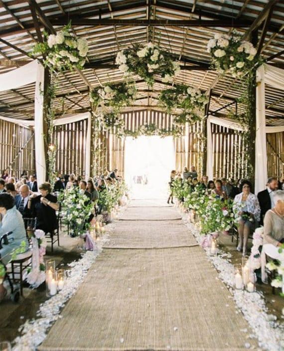 Burlap Aisle runner, Sale! Wedding Aisle runner