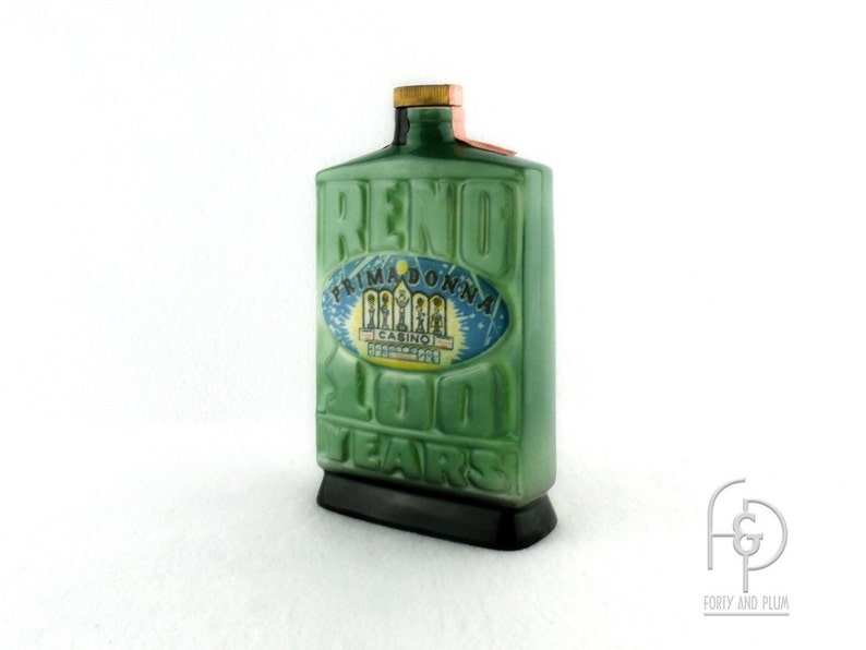 Jim Beam Decanter Reno 100 Years Primadonna Casino 1968