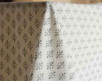 Square Tablecloth, Floral Tablecloth, White Tablecloth, Cotton Tablecloth,  Rustic Tablecloth