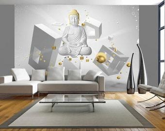 Boeddha 3d kunst aan de muur | Etsy