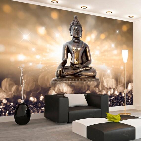 Foto-Tapete-Wand-Wandbilder Vlies 3D moderne Kunst Buddha Wall | Etsy